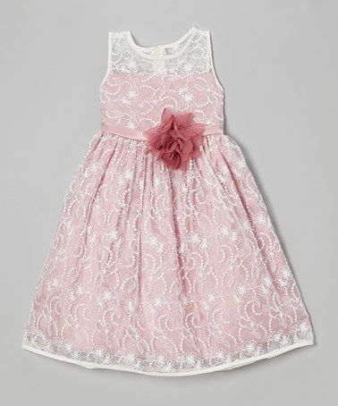 This Ivory & Rose Lace Babydoll Dress - Toddler & Girls is perfect! #zulilyfinds