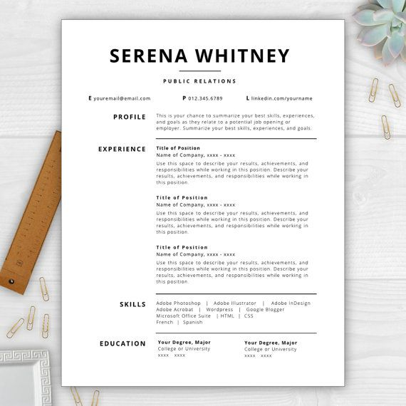 9 Best Images About Monogram Resume Templates On Pinterest