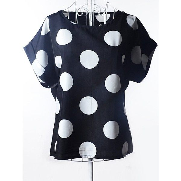 Simple Plus Size Scoop Neck Polka Dot Pattern Short Sleeves Blouse For... ($5.92) ❤ liked on Polyvore featuring tops, blouses, plus size short sleeve tops, women's plus size blouses, polka dot top, polka dot short sleeve blouse and plus size tops