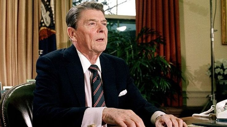 Donald Trump's inner-Reagan...Jan. 28, 1986: President Ronald Reagan in the Oval Office after a televised address to the nation about the space shuttle Challenger explosion.