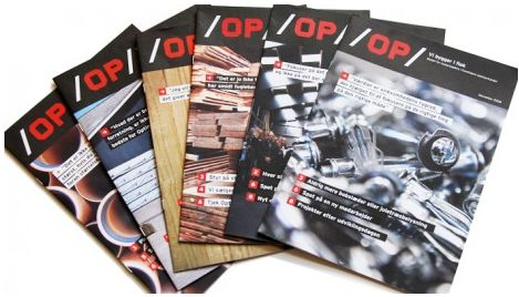 Vi udviklede og producerede medarbejderbladet OP, der med artikler, fotografier og interviews hjalp medarbejderne med at lære hinanden at kende på tværs af afdelinger over hele landet og få skabt en fælles forståelse af, hvad Optimera betyder.