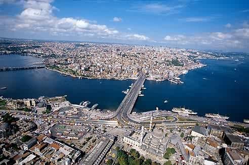 Galata, Golden Horn and Bosphorus, Istanbul Turkey