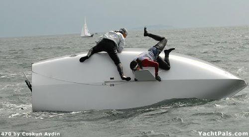 Capsizing | Sailing Photos - The Ups and Downs of Dinghy Sailing | YachtPals.com