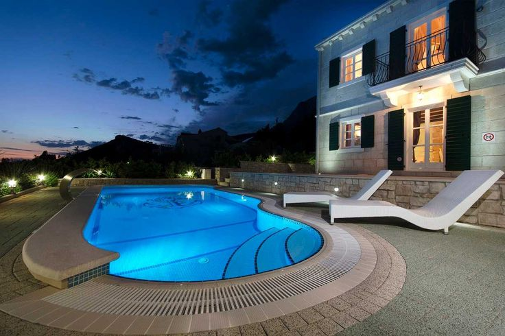 Villas Makarska Croatia - Traditional Luxury Villa with pool Makarska, panoramic sea view, Free WiFi and parking, AC, antique style, Makarska holiday home 3 bedrooms, 3 bathrooms - VillasCroatia.com #VillasCroatiaCom