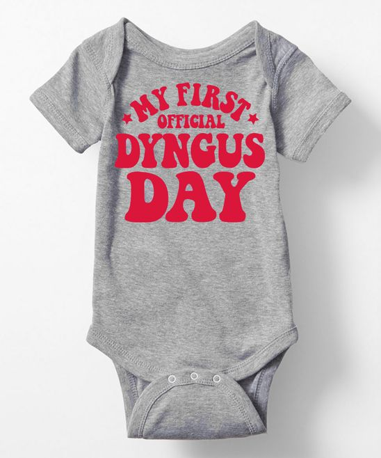 Athletic Heather 'My First Dyngus Day' Bodysuit - Infant