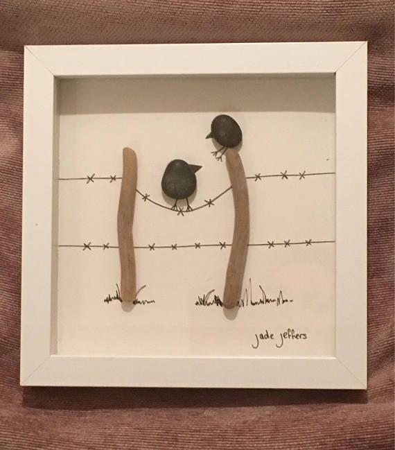 3D Beachcombing Art – Birds on a Wire – sevtap gur…