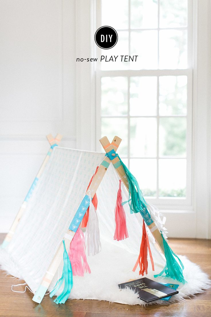 DIY play tent: http://www.stylemepretty.com/living/2015/09/09/diy-aframe-tent/ | Photography: Ruth Eileen - rutheileenphotography.com
