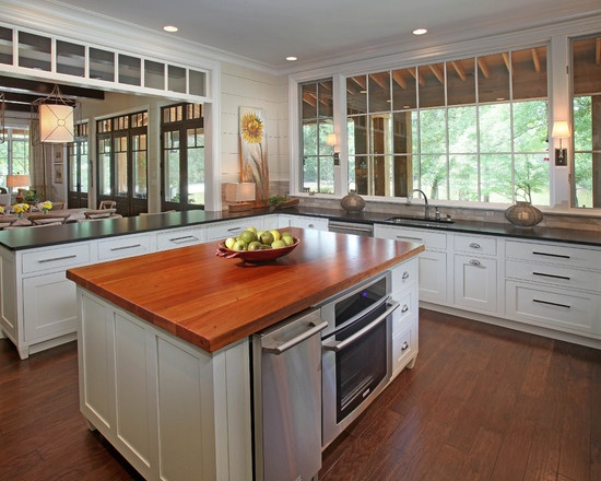 Casual By The Lake. Wooden CountertopsKitchen Island Countertop IdeasKitchen  ...