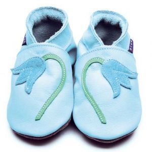 Bluebell Baby Blue/Marine Inch Blue Shoes - Soft Handmade Leather Baby Shoes