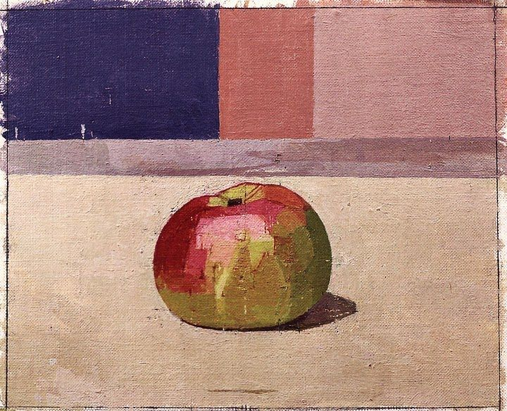 Euan Uglow Apple - Notice how the apple is broken down into different facets of shade and tone