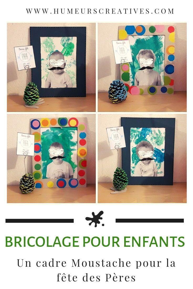 Un tableau Moustache et un porte-photo pomme de pin pour la fête des Pères