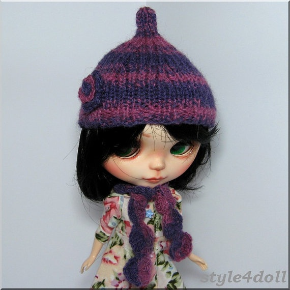 style4doll  Hand knitted Hat and Scarf Set for by style4doll, $19.99