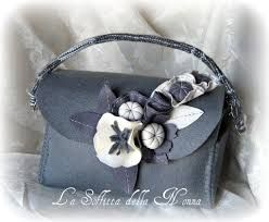 Risultati immagini per borse in feltro a bauletto