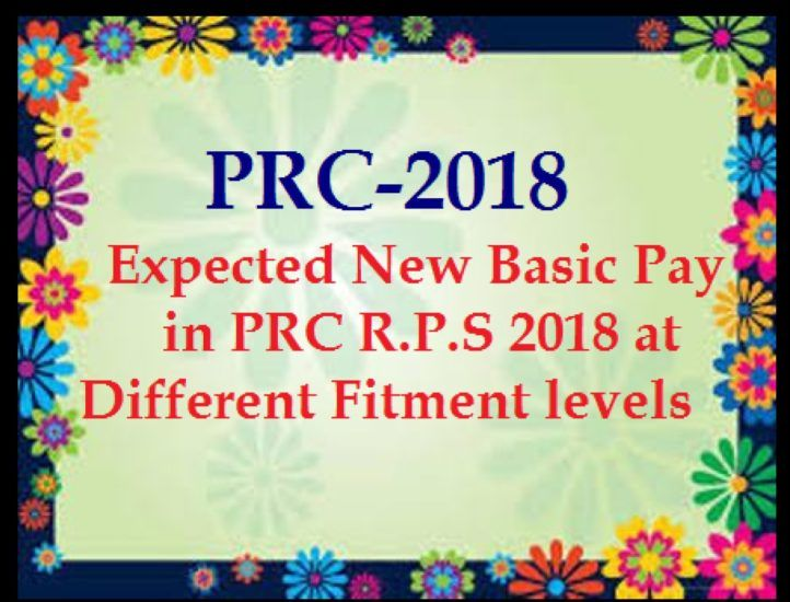 11th PRC- AP PRC 2018 Basic Pay, Fitment and RPS 2018