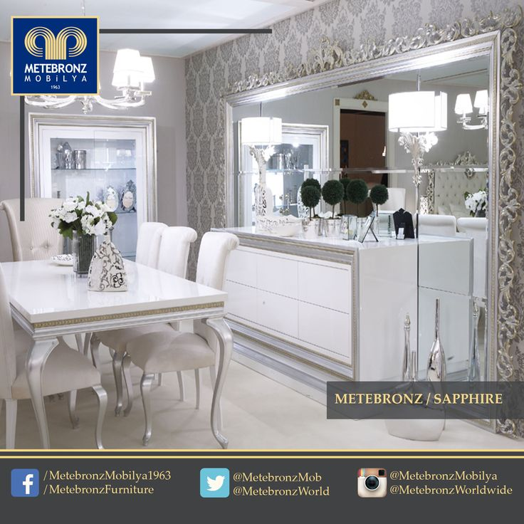 The dining room is ready for the guests. What's the menu for dinner tonight? www.metebronz.com #Metebronz