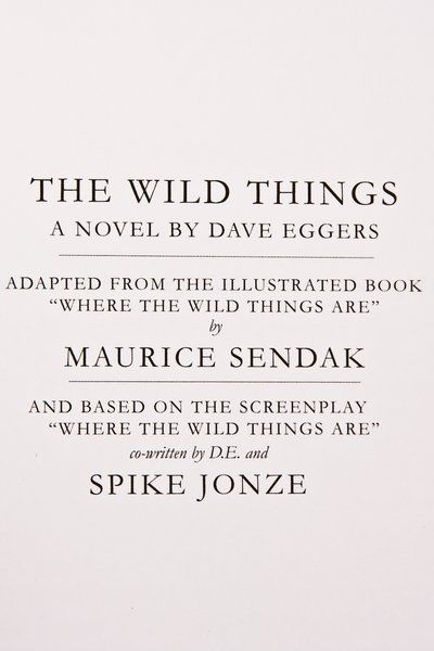 """As you're probably well aware, Spike Jonze and Dave Eggers recently spearheaded a film adaptation of Maurice Sendak's classic children's story """"Where the Wild Things Are"""". You may also know that Eggers released a 300-page novel based on the screenplay, entitled """"The Wild Things"""". Select retailers, including NYC-basedOpening Ceremony,have received a special Fur Edition of …"""