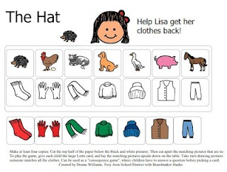 The Hat by Jan Brett. A Matching Game.