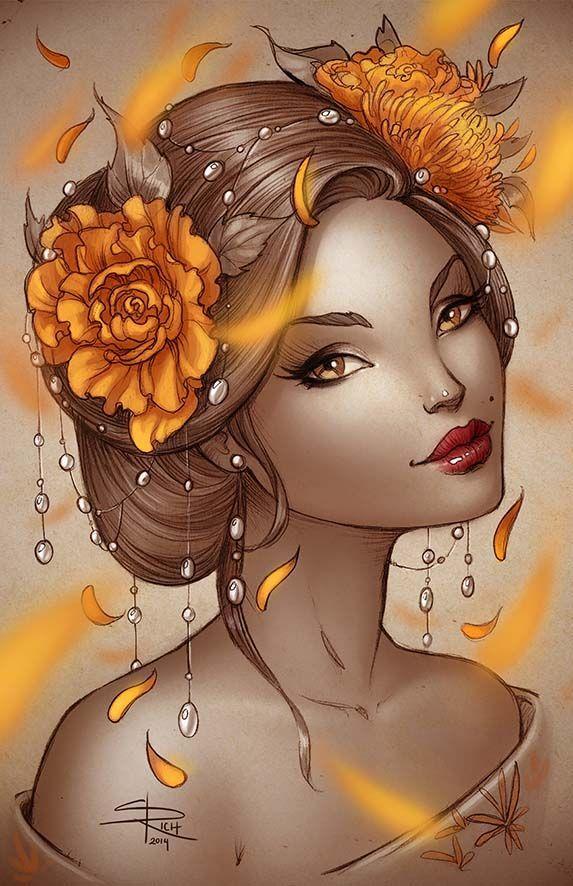 Summer Geisha by Sabinerich on DeviantArt:
