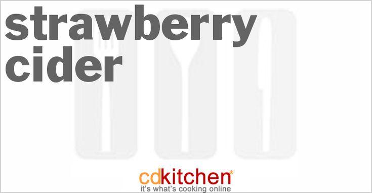 Strawberry Cider - CDKitchen.com