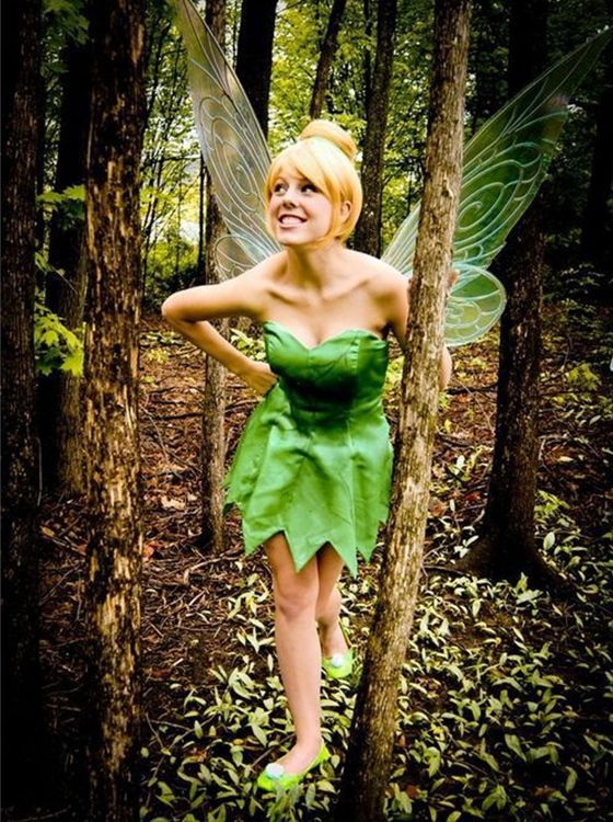 High Quality Thick Princess Tinker Bell Wig Tinkerbell Cosplay With Girl's Bun Short Blonde Full-bodied Synthetic Hair Wigs Hot