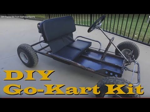 DIY Go Kart Kit Frame - YouTube