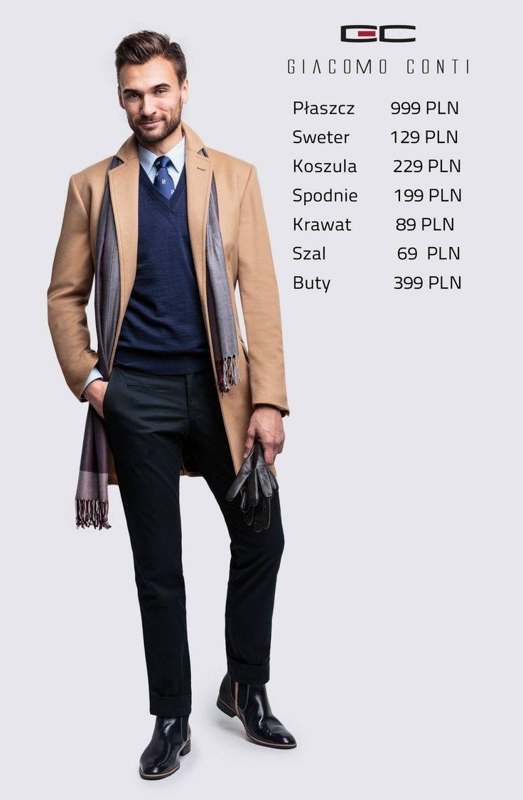 Stylizacja Giacomo Conti: płaszcz Casimiro 14/72 WK, sweter Severo 13/114 SR, koszula Michele 14/08/24, spodnie Riccardo 14/40 K  #giacomoconti
