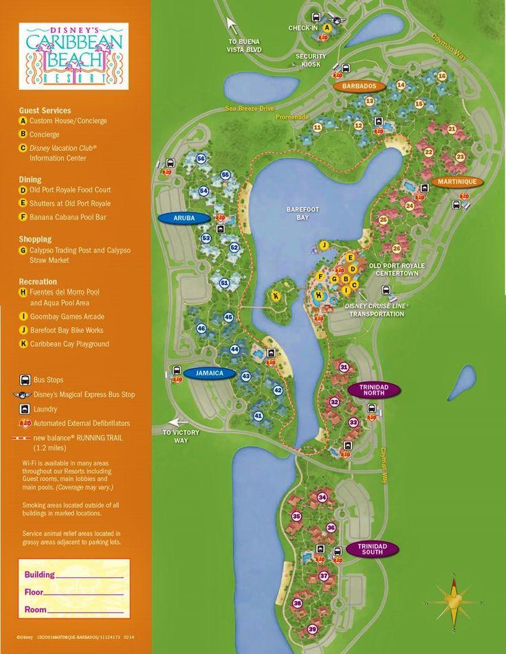 Map Disney's Caribbean Beach Resort