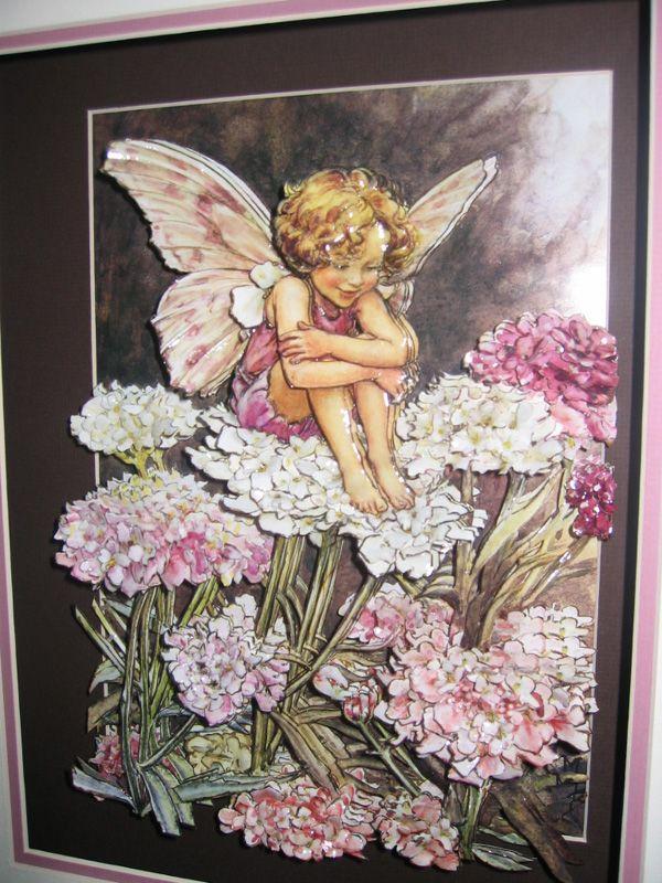 3-D paper fairy art
