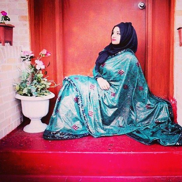 #hijab #saree #desi #bengali #hotd #party #outfit #attire #indian #green #blackscarf