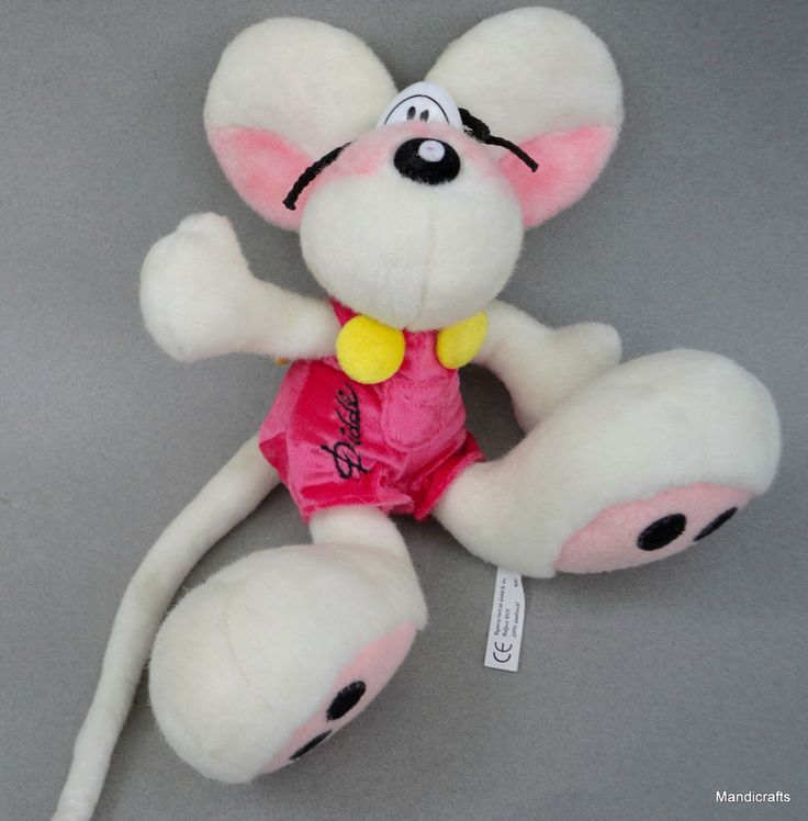 #Diddl #Mouse Thomas Goletz #Germany White #Plush 12  Depesche Vesteieb Jumping Maus