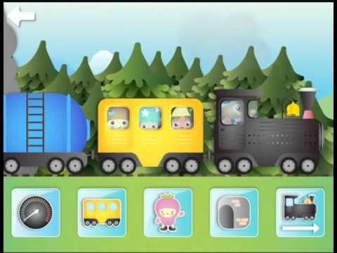 Детские мультик про паровозик, детская музыка