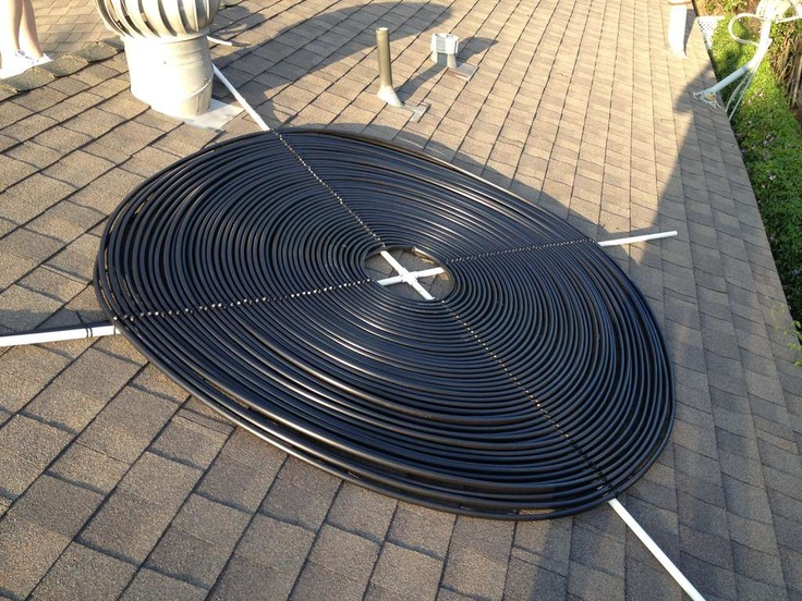solar hot water from black plastic hose