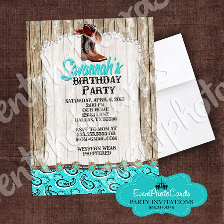 36 best images about Western Quinceanera Party Theme – Quince Party Invitations