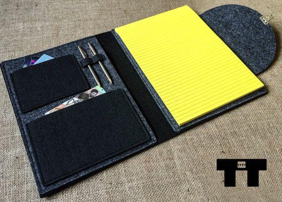Felt notebook case. Handmade felt notebook cover. A4 & by TTdsgn