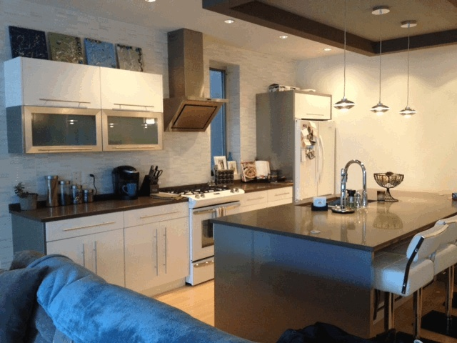 My white modern kitchen.
