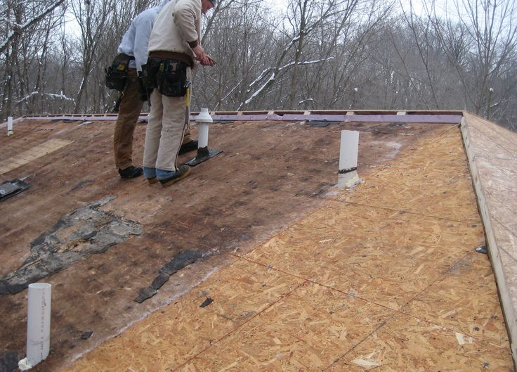 Roof Sheathing On 13 Year Old Icynene Insulated Roof Was