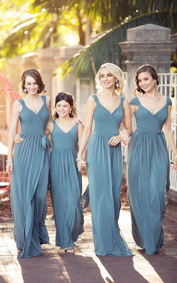 Wrap Bridesmaid Dress with Cap Sleeves 8874_alt3 via Sorella Vita / http://www.deerpearlflowers.com/sorella-vita-bridesmaid-dresses/2/