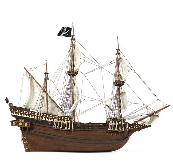 Model ship.The Buccaneer model may have been one of those vessels used for their misdeeds.