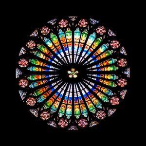 La rosace de la Cathedrale de Strasbourg @StrasTourisme