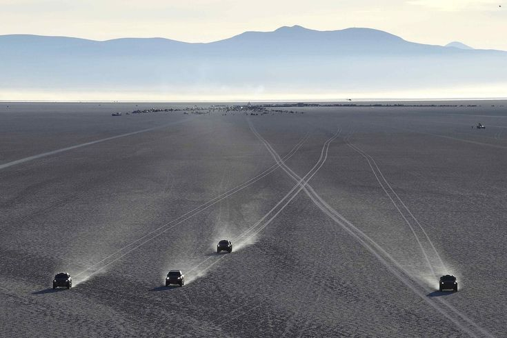 Week of Jan 16, 2015 Competitors begin the eighth stage of the Dakar Rally on Sunday on the Salar de Uyuni salt flat in Bolivia. JEAN-PAUL PELISSIER/REUTERS