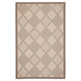 "Beige indoor/outdoor rug with a diamond motif.  Product: RugConstruction Material: PolypropyleneColor: Beige and dark beigeFeatures:  Made in TurkeyMachine madeSuitable for indoor and outdoor use Dimensions: 5'3"" x 7'7""Note: Please be aware that actual colors may vary from those shown on your screen. Accent rugs may also not show the entire pattern that the corresponding area rugs have.Cleaning and Care: Sweep, vacuum or rinse off with a garden hose"