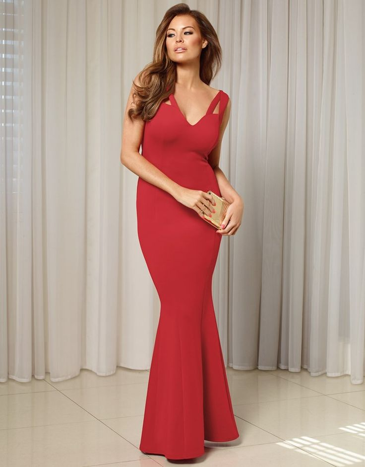 Jessica wright cut out detail fishtail maxi dress marisa for Skin tight wedding dresses