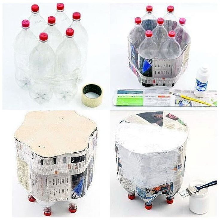 2 liter bottle craft ideas sidetable from 2 liter bottles a footstool from water 5807