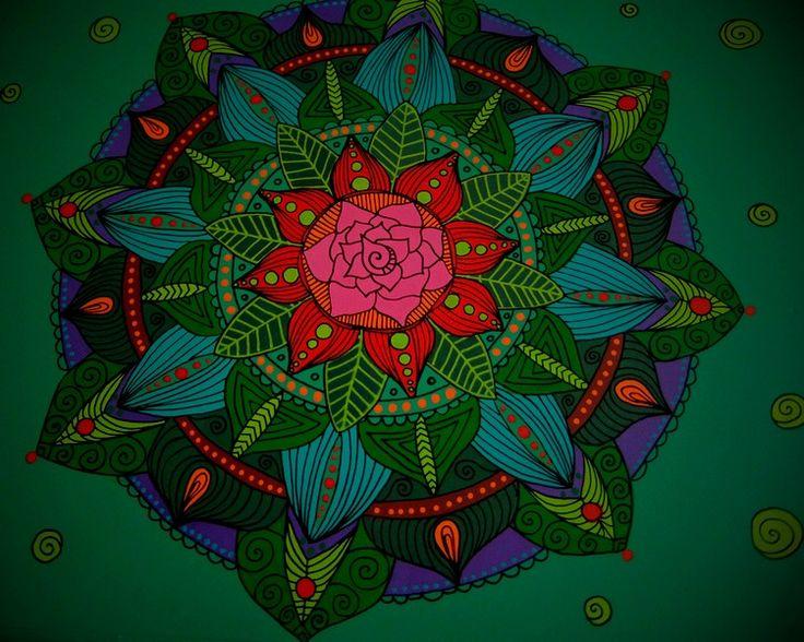 Rose mandala on bedside table by Luiza Poreda