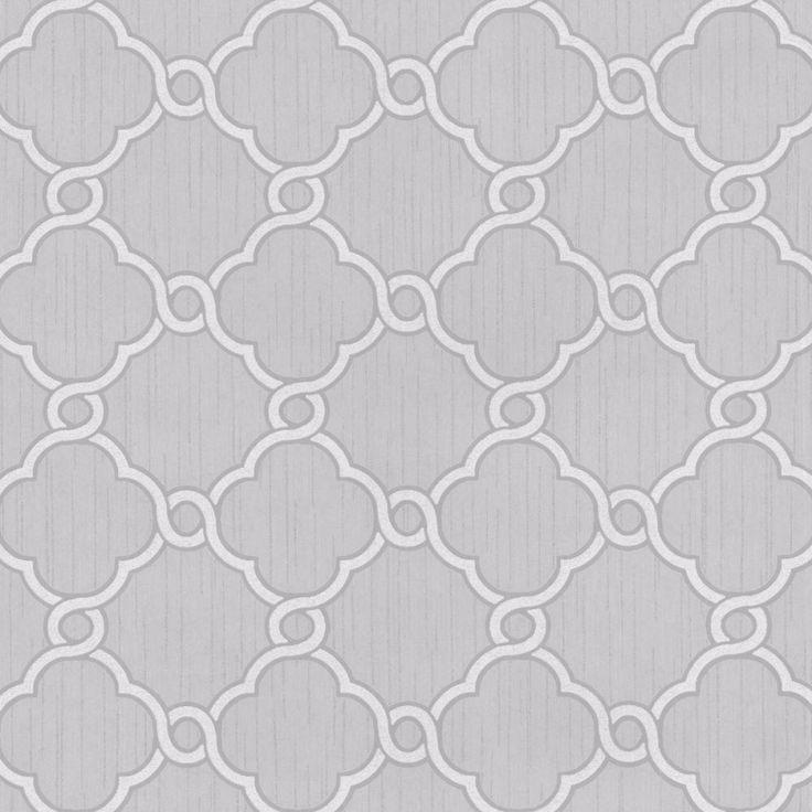Opal Geometric Glitter Wallpaper Pale Grey and White P+S 02493-50