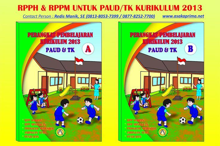 Jual buku RPPM dan RPPH PAUD Kurikulum 2013