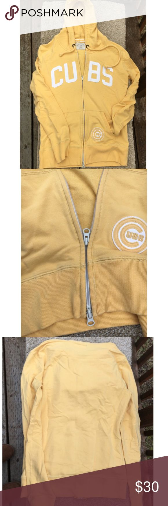 ⚾️ CUBS Womens Jacket Banner 47 so you know it's that distressed pre-worn feel softness! Slim fit, double zipper with sewn in Cubs patches on the chest & 1 of the 2 pockets. I've marked the color as yellow & gold because it is a deep mustard yellow. 95% cotton & 5% Lycra.   Authentic (most receipts have been posted).  No trades  ✅Only respectable offers made thru the OFFER tool accepted ❣️Please be kind as that's what you'll get in return ☮️Thanks for the opportunity to share my goods w/ u…