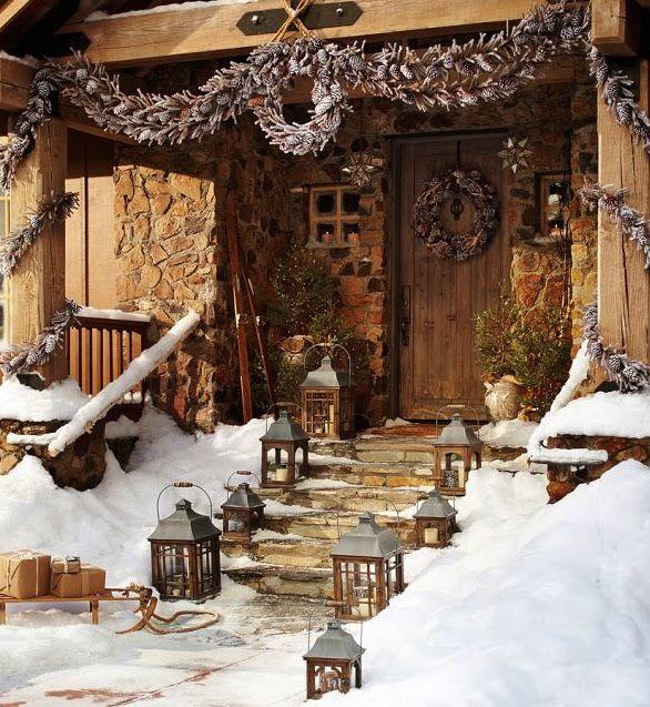 outdoor christmas decoration no l et f tes nouvel an pinterest no l rustique et. Black Bedroom Furniture Sets. Home Design Ideas