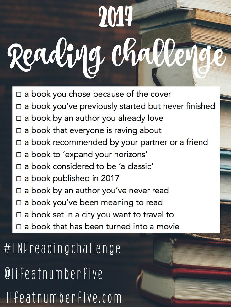 Join my 2017 Reading Challenge to put a little fun and inspiration back into your reading life!