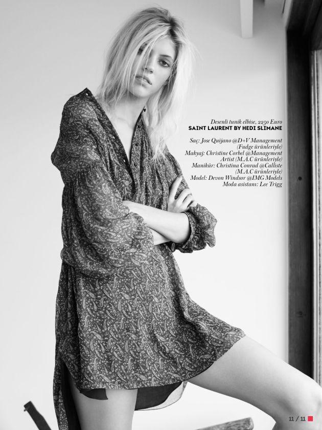 Devon Windsor by Horst Diekgerdes for Vogue Turkey, March 2015